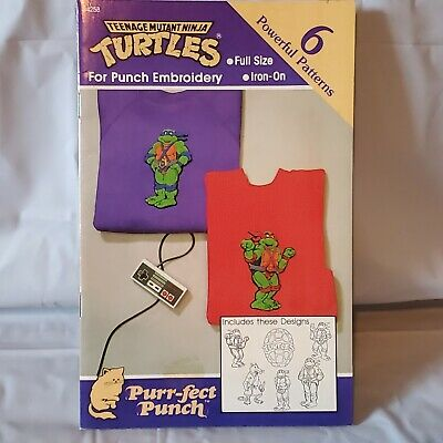 Punch Needle Embroidery Teenage Mutant Ninja Turtles Patterns (6) Iron On TMNT