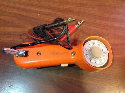 Vintage Rotary Dial GTE Automatic Electric Lineman's Test Phone Handset Orange