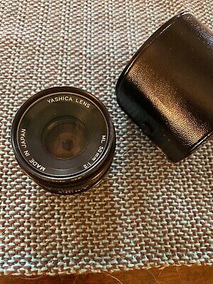 Yashica ML 50mm F1.9 Lens Manual Focus Prime for Contax Yashica C/Y Mount & Case