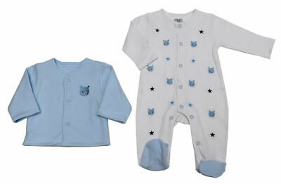 NEW Baby Boys Spanish Style Romany Embroidered Teddies Babygrow & Jacket Outfit