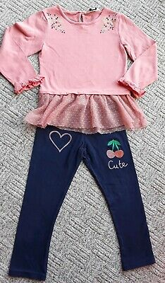 🦋Girls leggings & pretty top age 3-4 years good condition 🦋