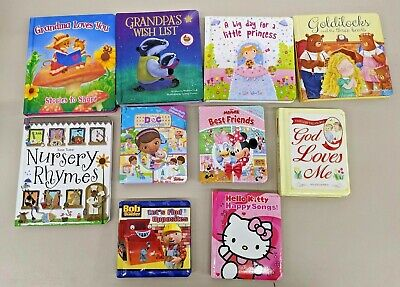 Lot Of 10 Padded Board Books For Toddlers Daycare Preschool
