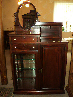 Antique Mahogany Bar with Sink/ , for Cool Drinks/ Display Cabinet