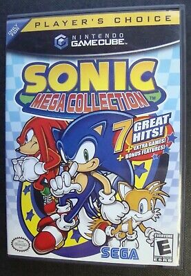 Sonic Mega Collection Player's Choice Complete Nintendo Gamecube Ngc Video Game