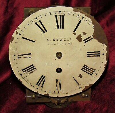 Small English Fusee Bracket Clock Movement & Dial
