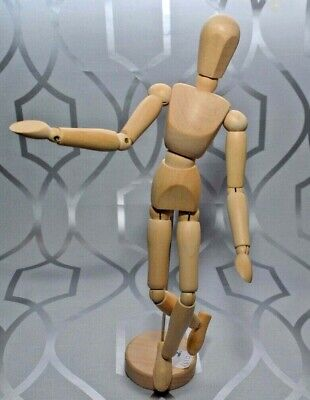 Wooden Manikin Human Figure Mannequin Jointed Doll Artist Draw Painting Model UK