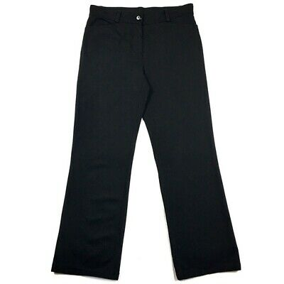 Eileen Fisher Womens Size XS Pants Black Ponte Knit Straight Leg Stretch Relaxed