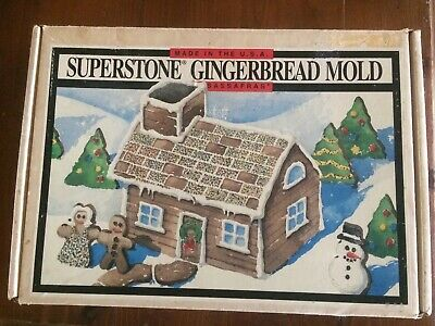 Sassafras Superstone Gingerbread Mould House Man 1994 Christmas Large stone