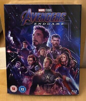 Marvel Avengers Endgame Blu Ray Uk Version New & Sealed With Outer Sleeve