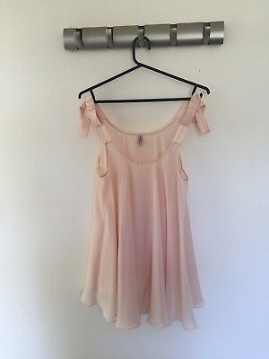 Agent Provocateur, 'Birthday Suit' Silk Babydoll, Pale Pink, Size 2, RRP $567
