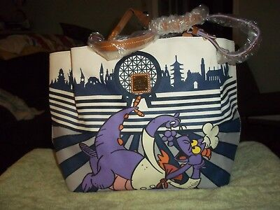 Disney Dooney & Bourke 2017 Epcot Food and Wine Festival Figment Tote