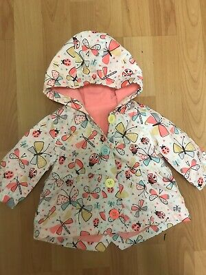 Baby Girls Age 0-3 Months Butterfly Autumn Coat By Nutmeg
