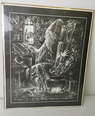 Vintage M. Pena Wizard Print Published By Alberti Design (Wizards Retreat) 1981