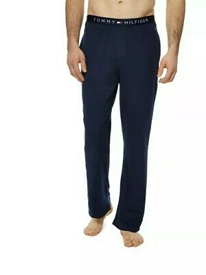TOMMY HILFIGER Mens Pyjama Bottoms  Navy Blue Logo Waist Band. Size: Small