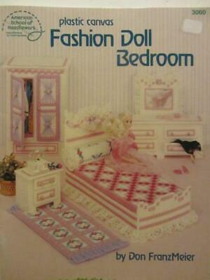 Fashion Doll/Barbie Doll Plastic Canvas Pattern Book-Pink Bedroom