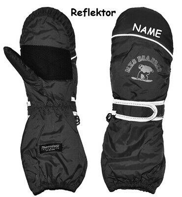"""Thermal Gloves/Mittens - """" Black """" - Size: 1 to 9 Years - Incl. N"""