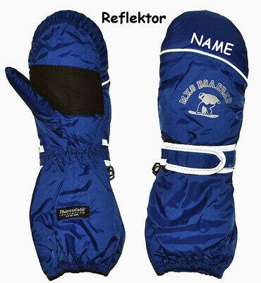 """Thermal Gloves/Mittens - """" Dark Blue """" - Size: 1 to 9 Years - Inc"""
