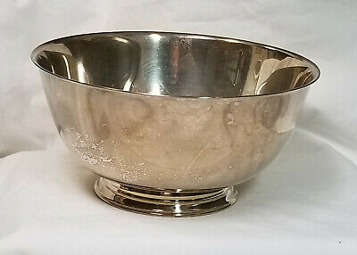 """Paul Revere 8"""" Footed Bowl Silverplate Reproduction Bullock's"""