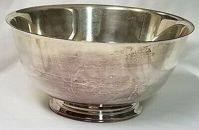 """Vintage Paul Revere 8"""" Footed Bowl Silverplate Reproduction Oneida"""