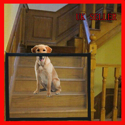 Retractable Pet Dog Gate Safety Guard Folding Stair Baby Gate Net Isolation