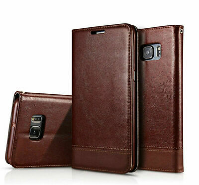 Fr Samsung Galaxy Note 9 S7 S9 S8 Plus Leather Case Cards Slot Flip Wallet Cover