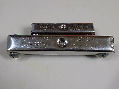 TWO (2) SNAP-ON TOOLS HEX FOLDING WRENCH SETS  AW5-K  AW9-K Made in USA VTG