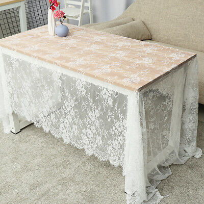 150x300cm Rectangle White Lace Tablecloth Party Wedding Table Cloth Cover