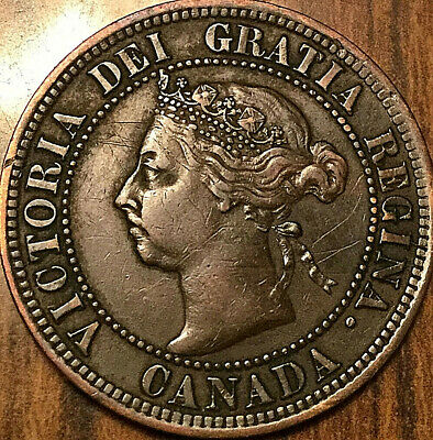 1891 CANADA LARGE CENT PENNY LARGE 1 CENT COIN - SDSL Obverse#3 - Very nice one!