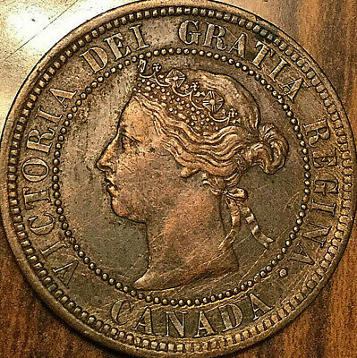 1892 CANADA LARGE CENT PENNY LARGE 1 CENT COIN - Obverse #2 - Excellent example!