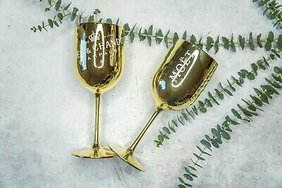Moet & Chandon Goblet / Gold / Celebrate / Acrylic Glass / Wine Glass