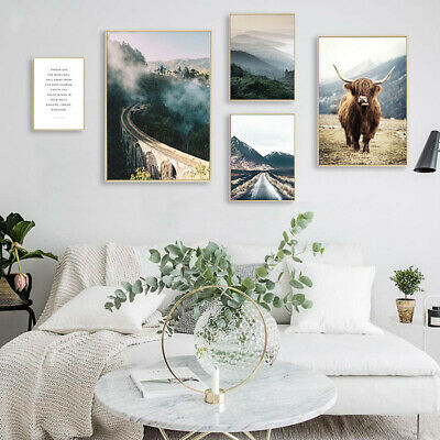 Scandinavian Canvas Poster Painting Image Wall Art Picture Prints Decor Unframed