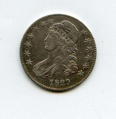 1829 Silver Capped Bust 1/2 Half Dollar 50 Cents