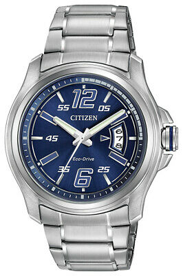 Citizen Eco-Drive Men's HTM Date Calendar Blue Dial 43mm Watch AW1350-83M