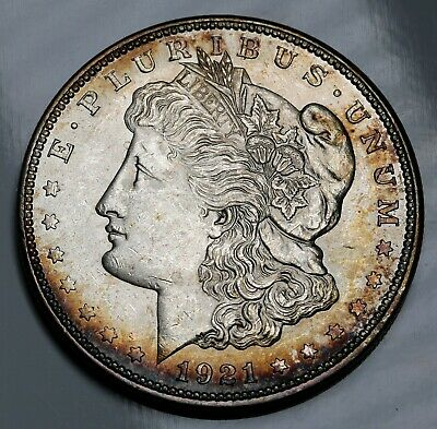 1921 P US Morgan Dollar $1 KM# 110 Silver Coin Nicely Toned UNC +Lustre
