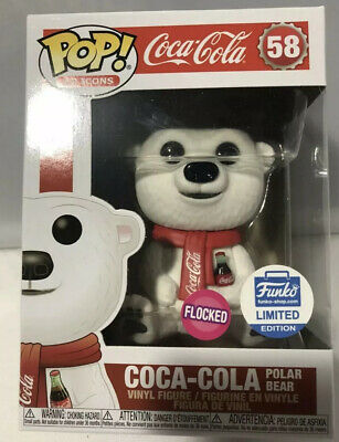 Funko Pop Ad Icons- Coca Cola Bear-Funko Shop Limited Edition In Stock - Flocked