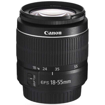 Canon EF-S 18-55mm f/3.5-5.6 III SLR Zoom Lens for Rebel T7, T6, T5, T3, XT & XS