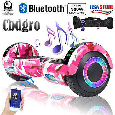 "6.5"" Bluetooth Hoverboard Self Balancing Wheel LED Electric Scooter- UL2272 Bag"