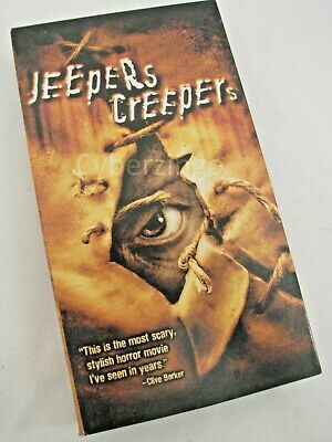Jeepers Creepers Gina Philips Justin Long VHS Tape