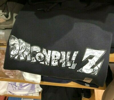 DRAGON BALL Z UNIQLO UT BLACK XL XXL 3XL 4XL HOODIE Sweat Shirt GOKU FRIEZA