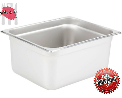 """Half Size Stainless Steel 6"""" Deep Steam Prep Table Hotel Pan Buffet Hotel 1/2"""