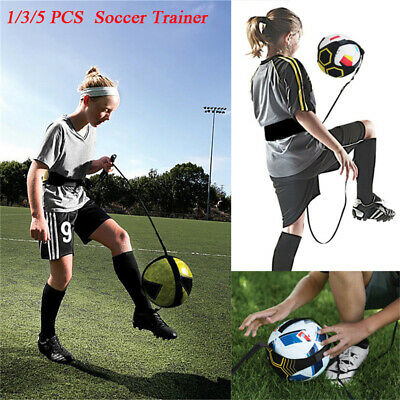 1/3/5Soccer Football Kick Throw Trainer Solo Practice Training Aid Control Skill