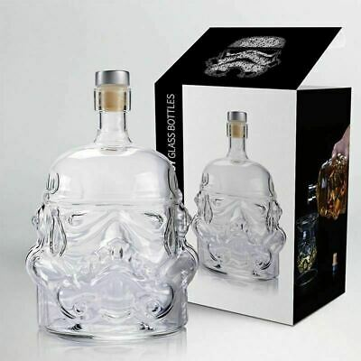 650 ml Storm Trooper Decanter Star Wars White Soldier Glass Liquor Bottle