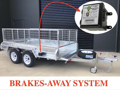 12x6 TANDEM GALVANISED TRAILER ELECTRIC BRAKES 2800KG ATM WITH 600mm CAGE