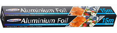 3 BOXES OF ALUMINIUM 15 METERS EXTRA TOUGH ,  THICK & STRONG KITCHEN FOIL x3