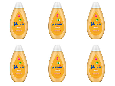 Pack of 6 No More Tears - Johnson's Baby Shampoo 200ml Pure & Gentle Daily Care
