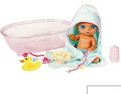 ZAPF Baby Born 20+ Surprise Baby doll & Bathtub,toys bundle nappy,bottle,towel