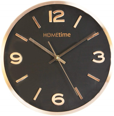 Modern Aluminium Copper Hometime Wall Clock