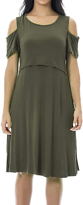 BNWT Topshop Maternity Nude Ruffle Cold Shoulder  Dress 16 £70