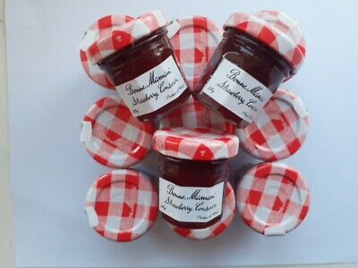 15 x Bonne Maman Strawberry, Raspberry or Blackcurrant Jam 30g mini jars