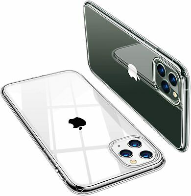 For iPhone Case 5 8 7 6s XS XR Bumper Shockproof Clear Silicone Protective Cover